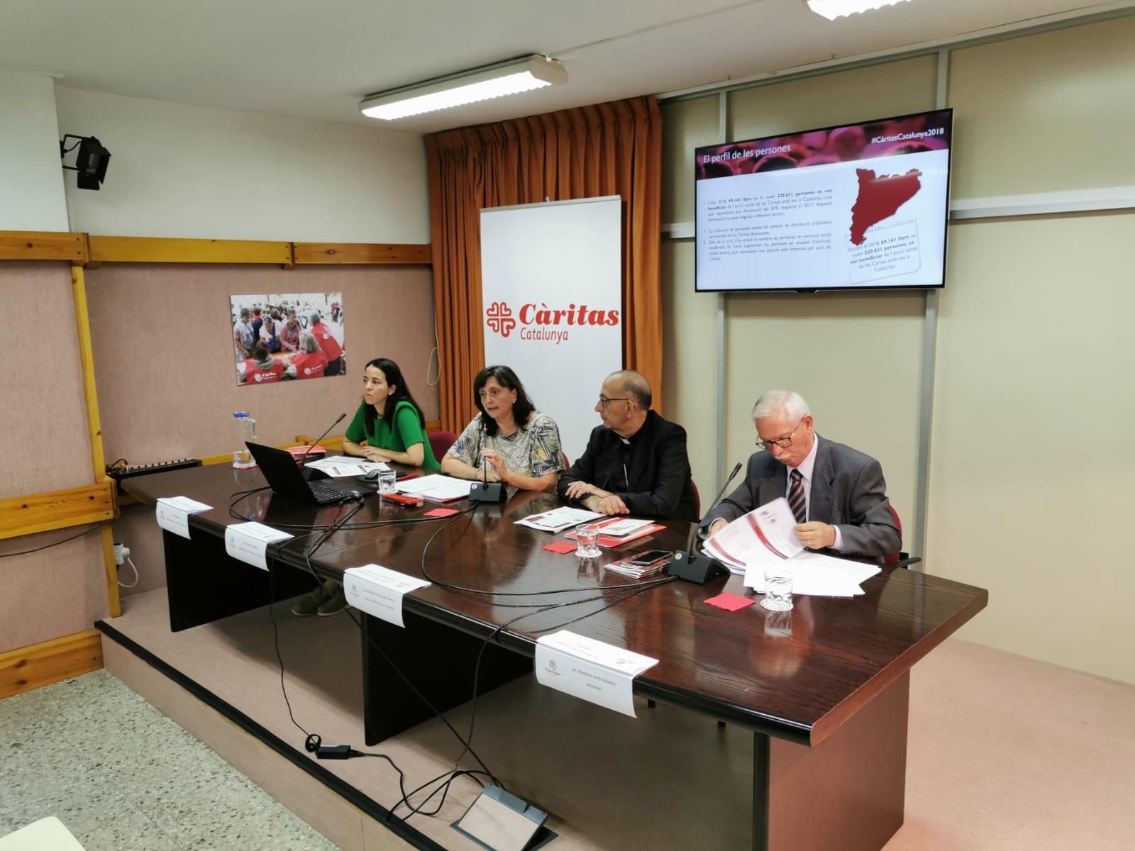 presentació memòria Caritas catalunya 2018
