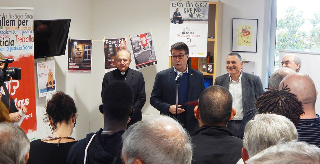 Presentació de les obres d'ampliació i millora del Centre d'Acollida Abraham