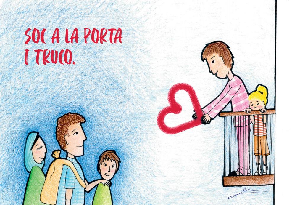 Postal del Nadal 2019 de Càritas DIocesaa de Sant Feliu de Llobregat, feta per Èlia Carbonell